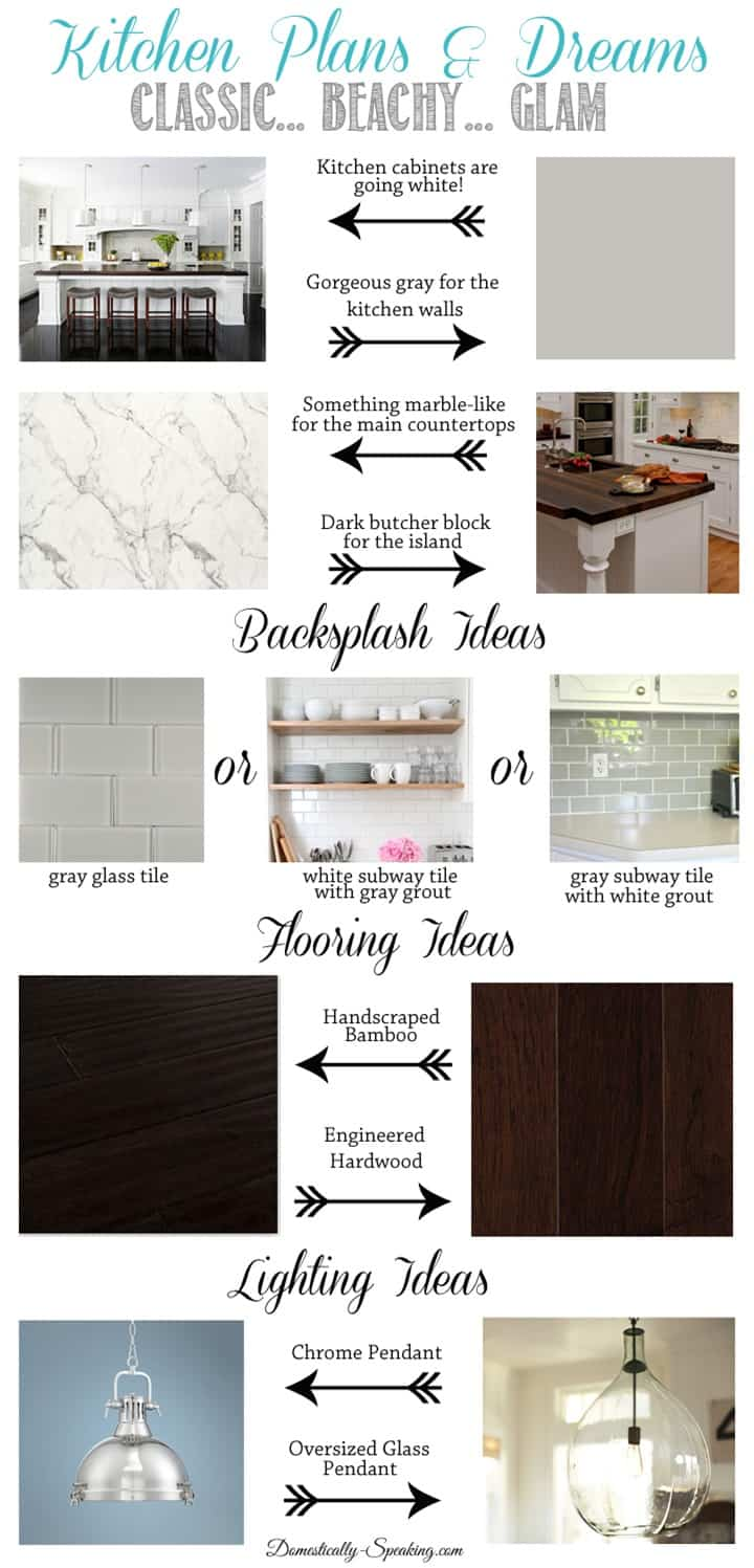 Classic Beachy Glam Kitchen Plans