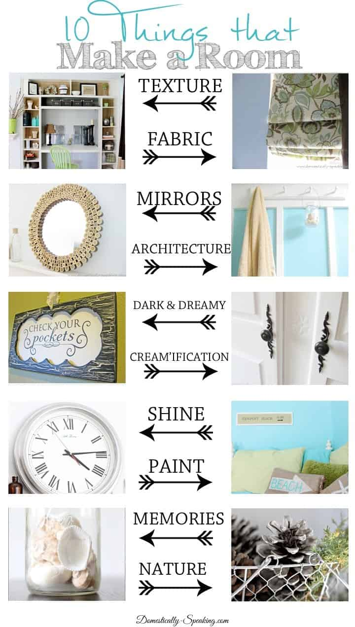 10 things that make a room domestically speaking for The make room