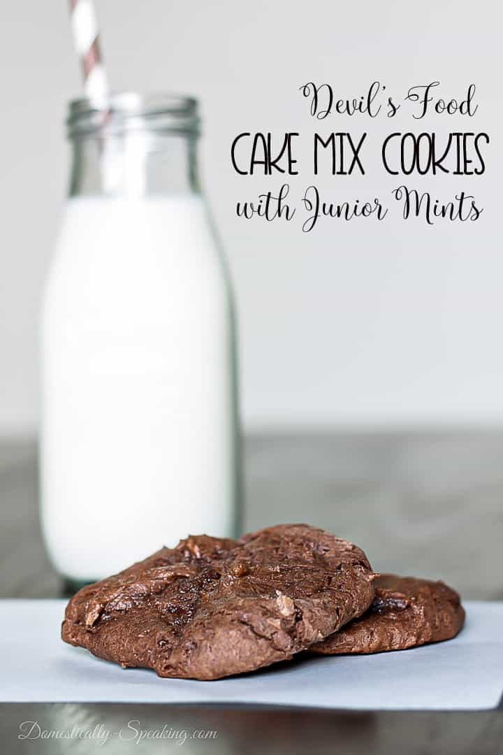 devils food cake mix cookies with milkl