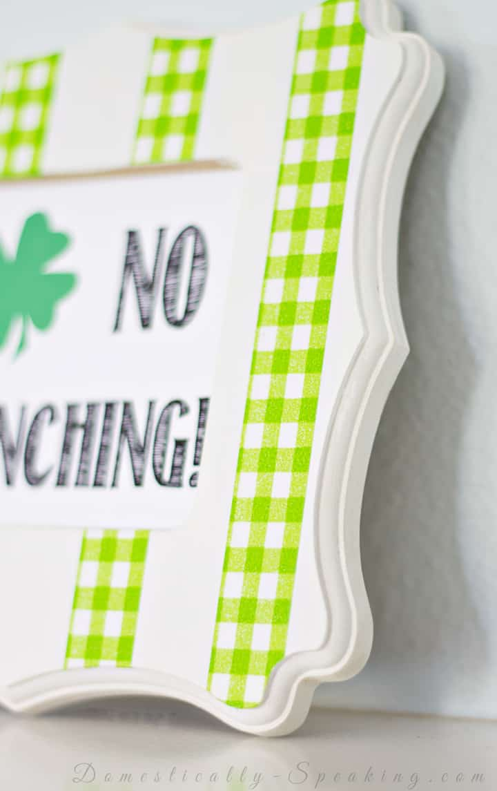 No Pinching St. Paddy's Washi Tape Frame