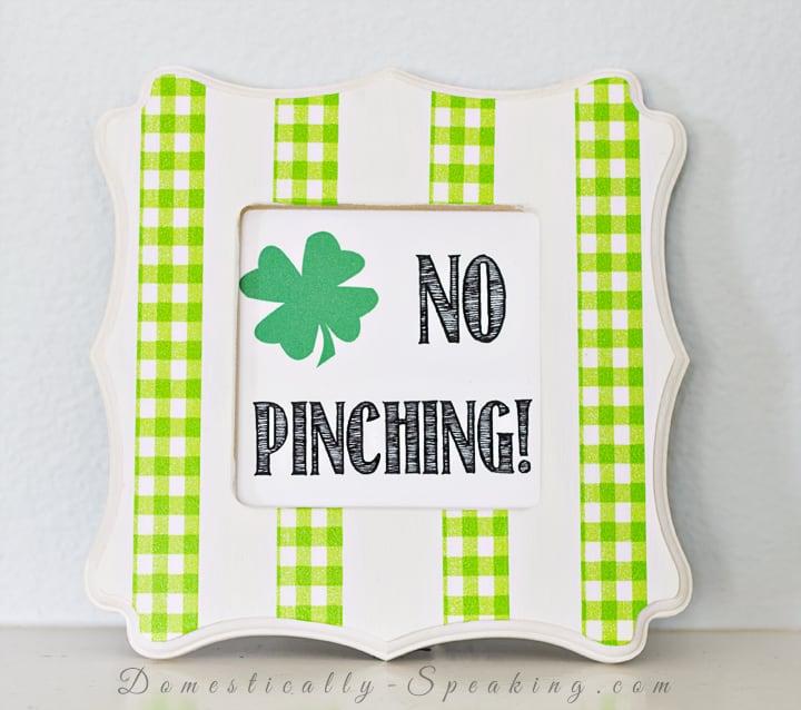 No Pinching St. Patrick's Day Washi Tape Art