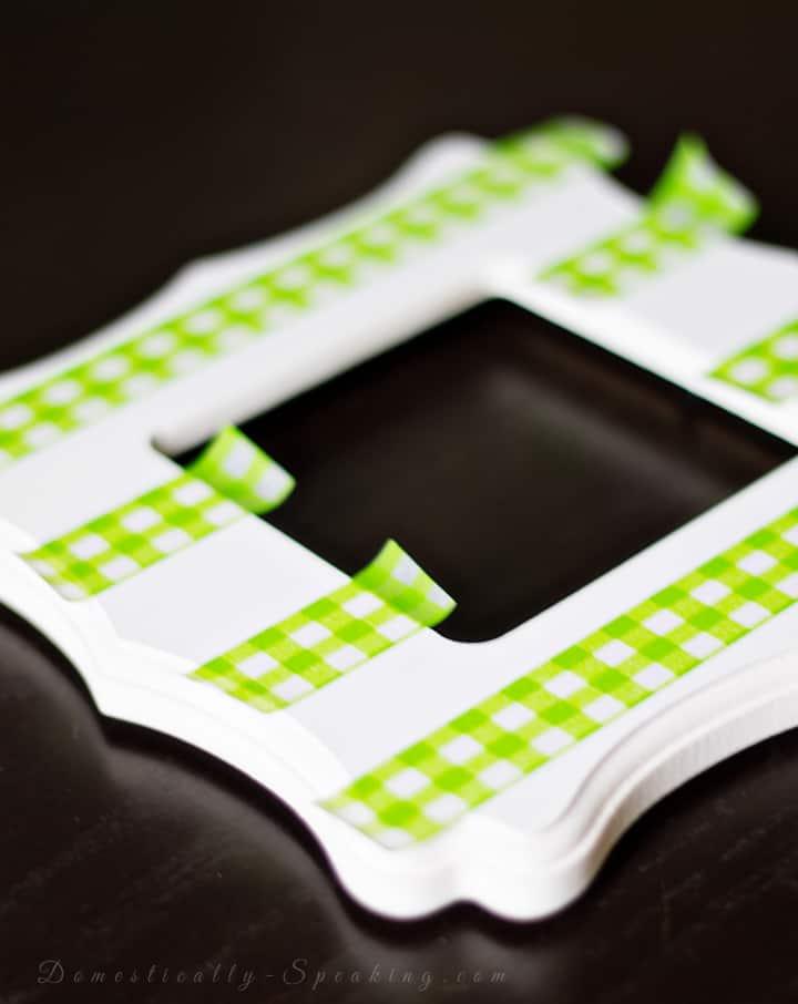 No Pinching St. Patrick's Day Washi Tape Frame
