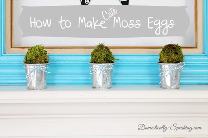 How to Make Moss Easter Eggs