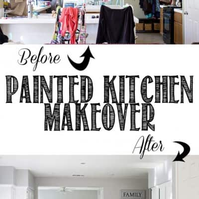 Gray and White Painted Kitchen Cabinets Makeover