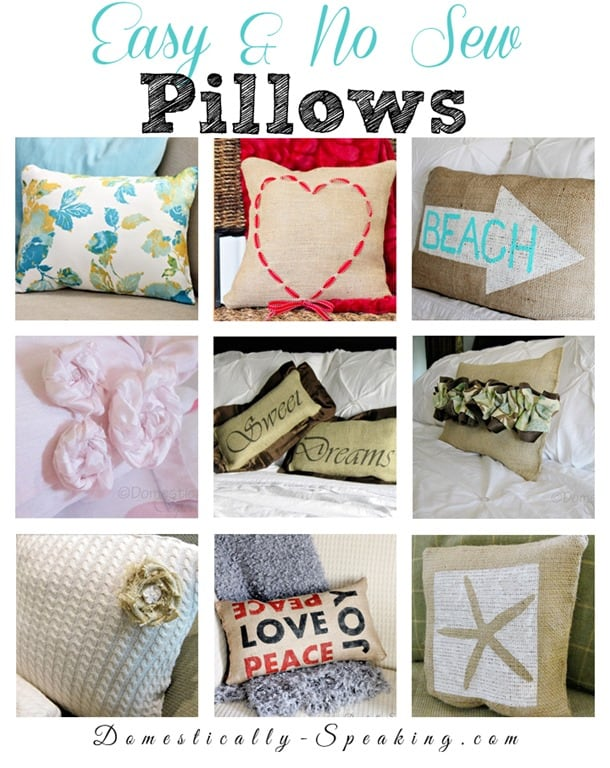 Easy And No Sew Pillows Domestically Speaking