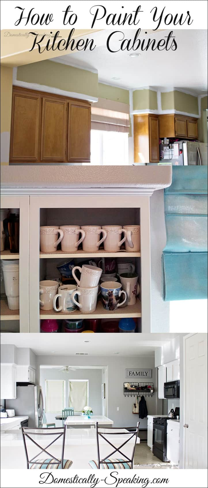 Paint Your Kitchen Cabinets How To Paint Your Kitchen Cabinets Domestically Speaking