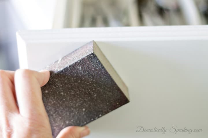How to Paint Your Kitchen Cabinets Lightly Sand