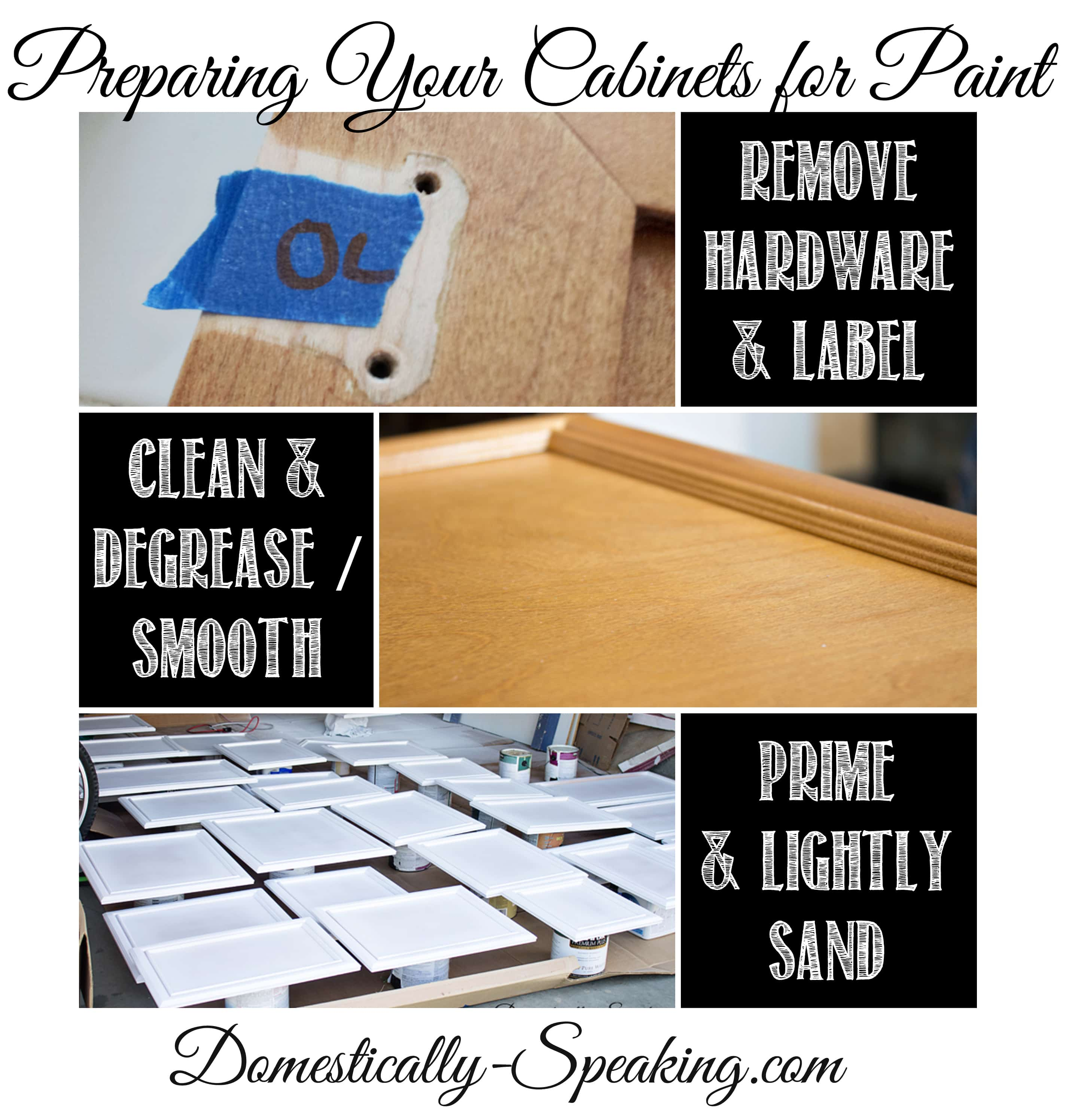 preparing your cabinets for paint domestically speaking