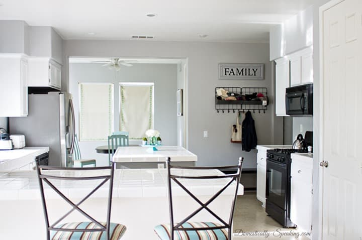 White and Gray Painting Kitchen Cabinets 1