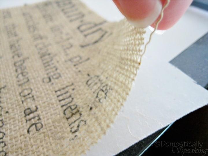 Burlap Fabric Giveaway
