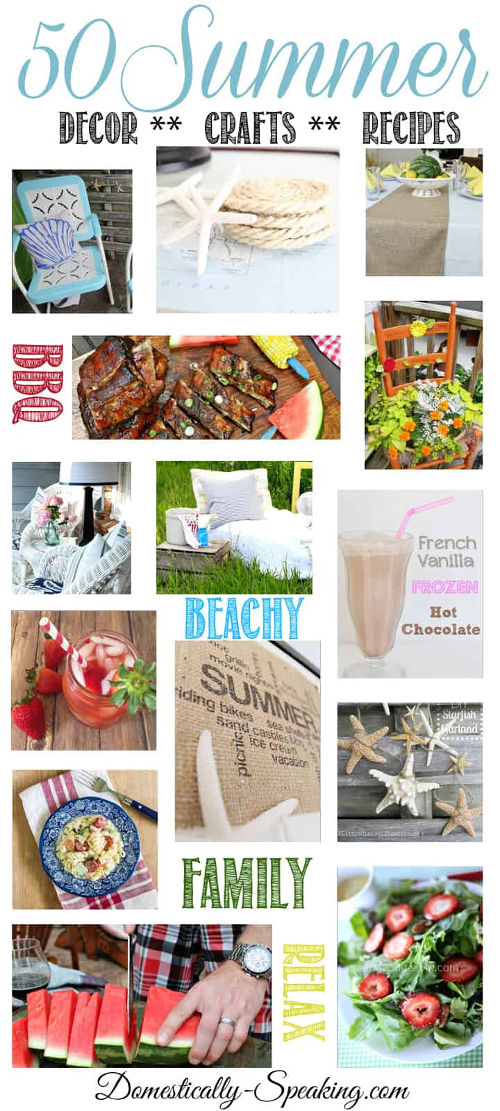 50 Summer Decor Crafts Recipes