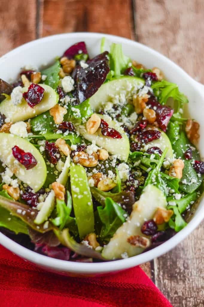 Apple Walnut Cranberry Salad from Flavor Mosaic
