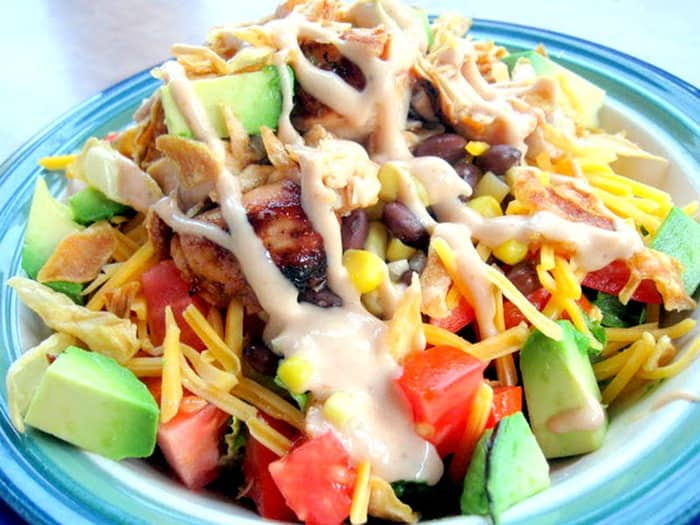 BBQ Chicken Salad from A Turtles Life for Me