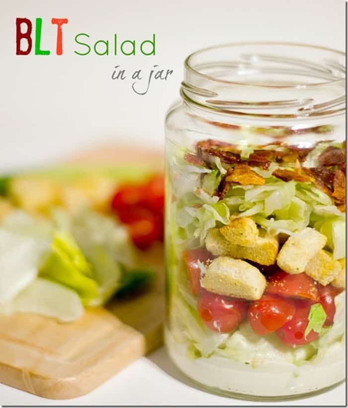 BLT Salad in a Jar from It All Started with Paint