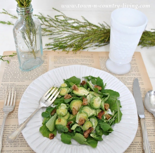 Brussel Sprout and Arugula Salad from Live Creatively Inspired