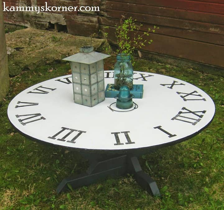 Clock Coffee Table from Kammys Korner