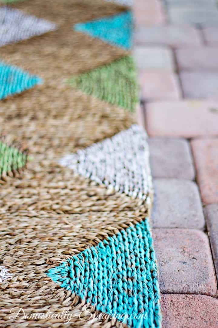 Diamond Painted Outdoor Rug Tutorial
