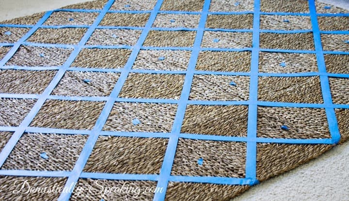 Painted Outdoor Rug Tutorial