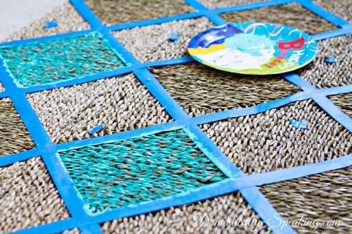 Diamond Painted Outdoor Rug Tutorial