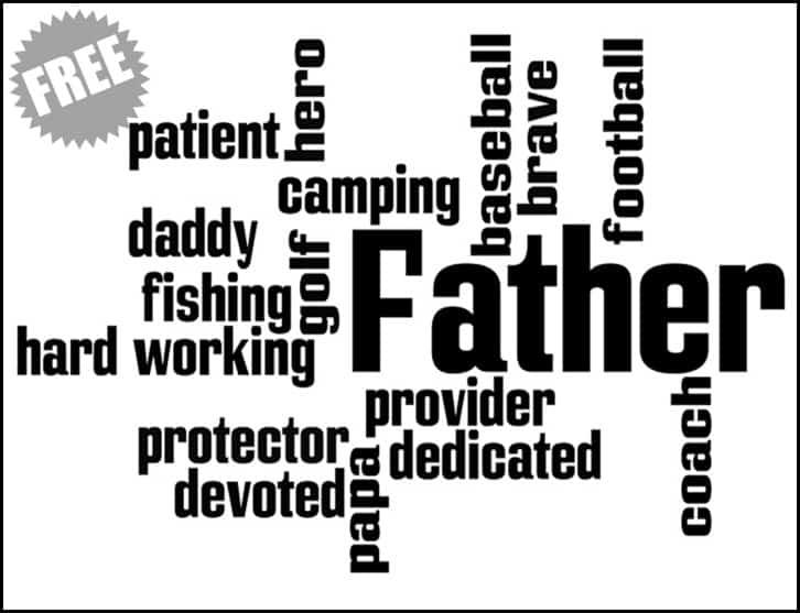 Father Subway Sign Printable