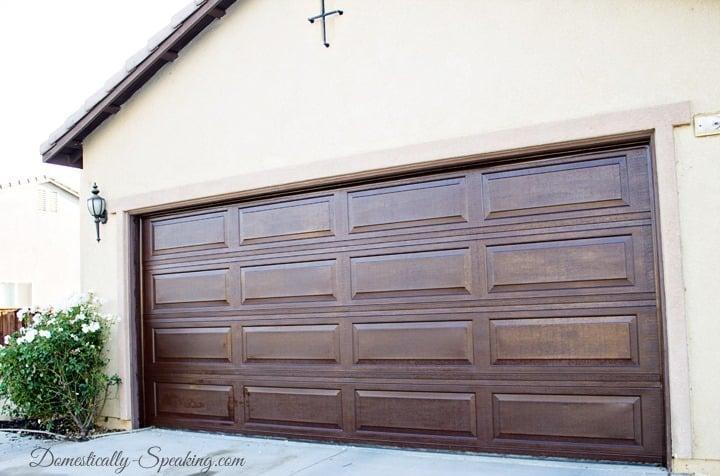 DIY Garage Door Makeover with Stain