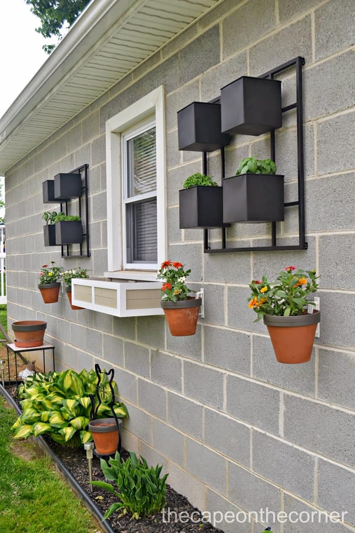 Garage Wall Planters from The Cape on the Corner