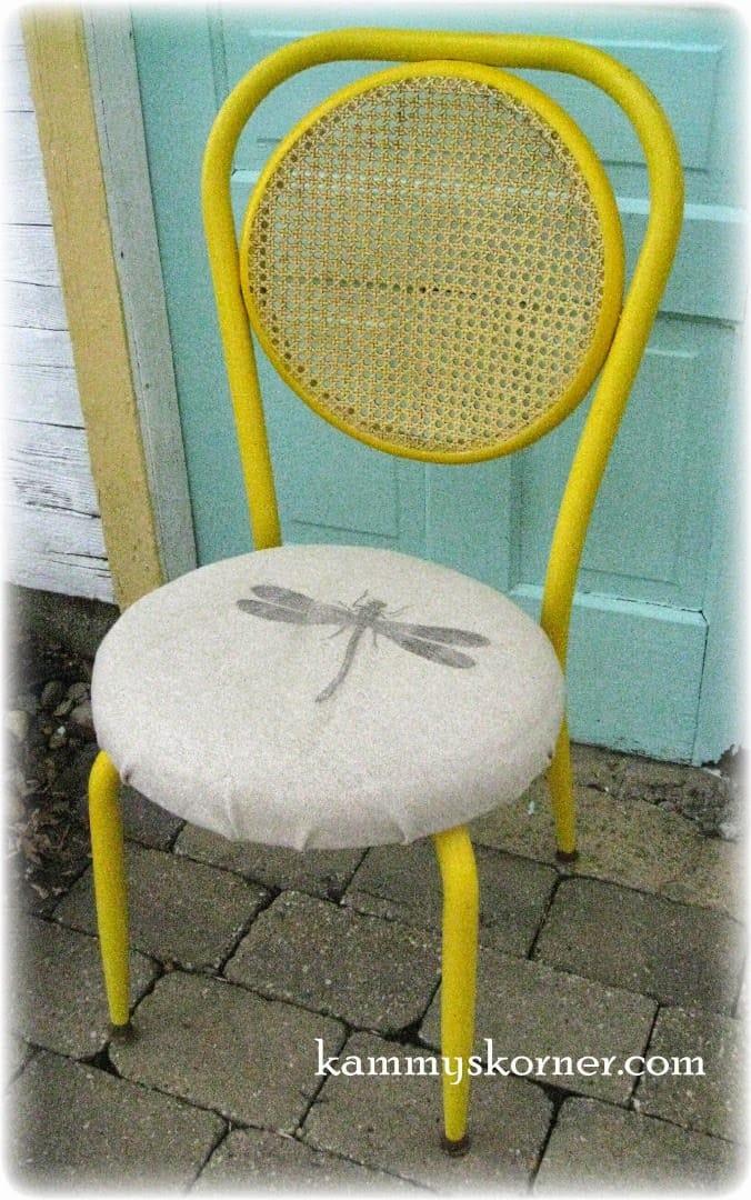 Kammys Korner's Wax Paper Transfer Chair