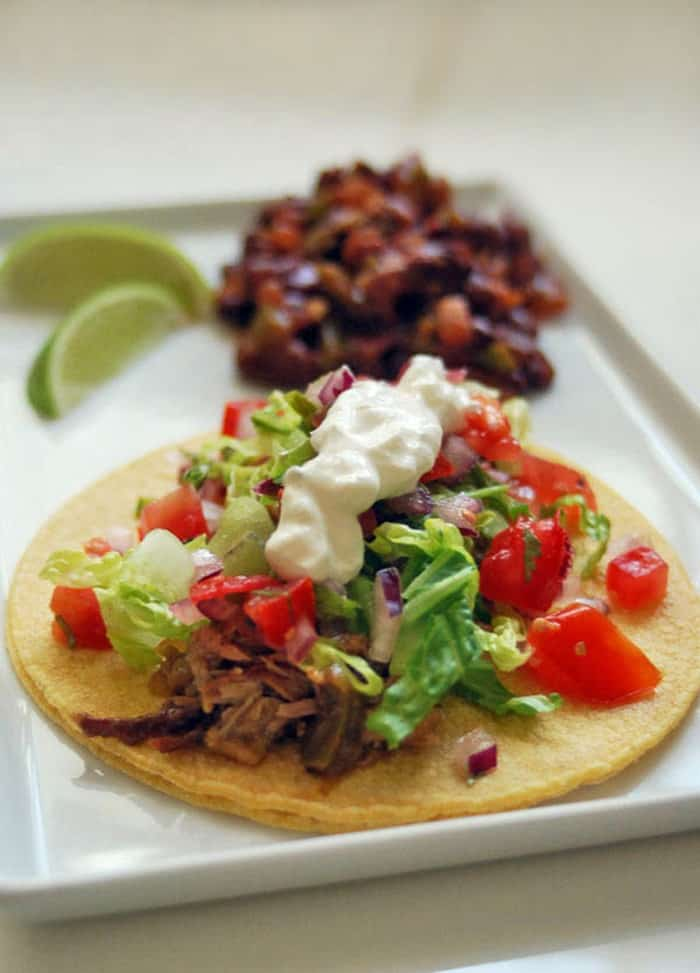 Love and Duck Fat's Pork Carnitas Tacos