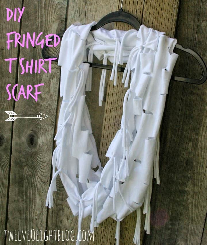 Twelve O Eight's Fringed T-shirt Scarf