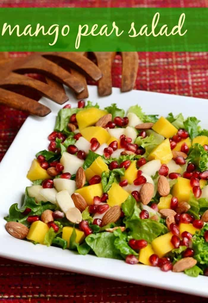 Mango Pear Salad from Read Food Real Deals