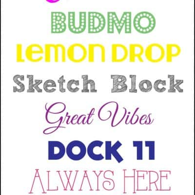 My Favorite Fonts