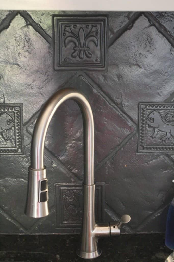 Painted Tile Backsplash from Designer Trapped