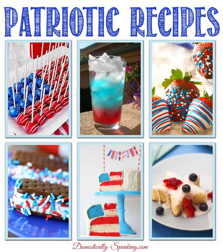 Patriotic Recipes for the 4th of July, Memorial Day