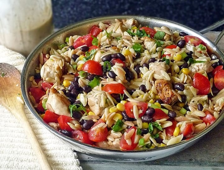 Spicy Chicken Pasta Salad from Our Life Tastes Good