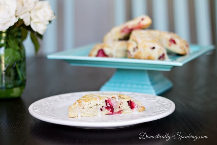 Strawberry Scones with Lemon Icing Recipe