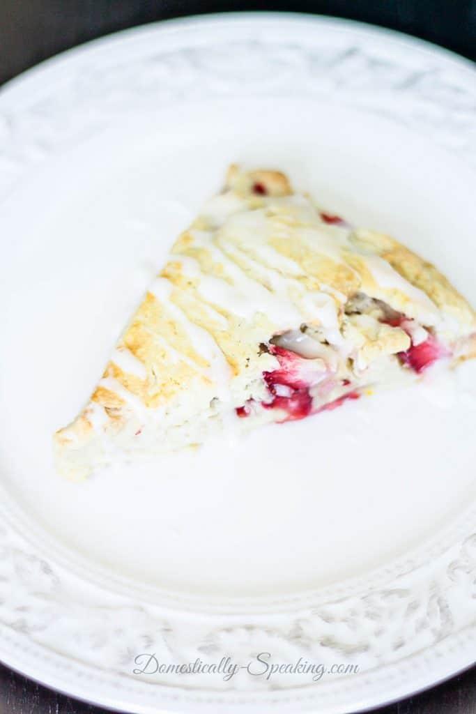 Easy Strawberry Scones with Lemon Glaze Recipe