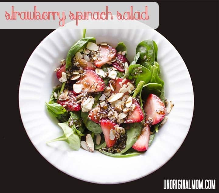Strawberry Spinach Salad from Unoriginal Mom