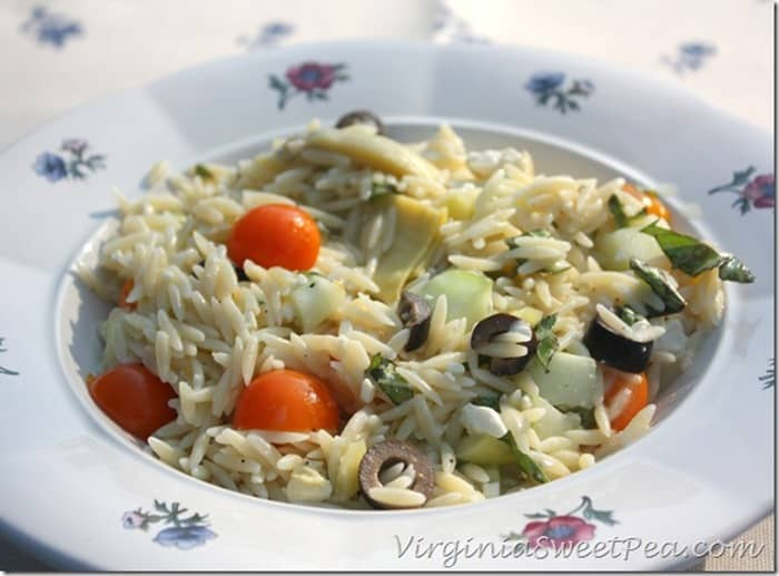 Summer Orzo Salad from Sweet Pea