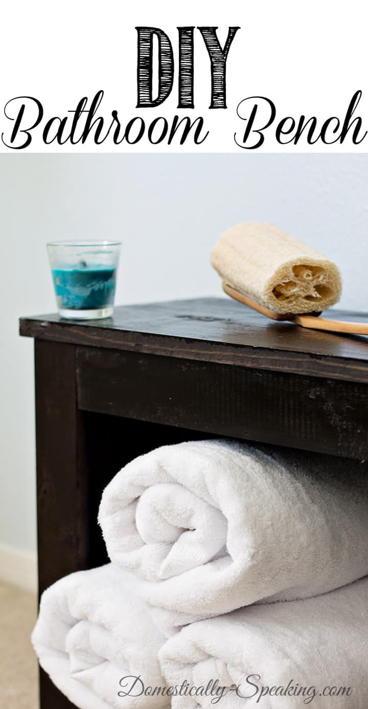 DIY Bathroom Bench... great for storage and easy to make