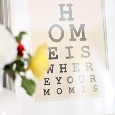 Mother's Day Eye Chart Printable