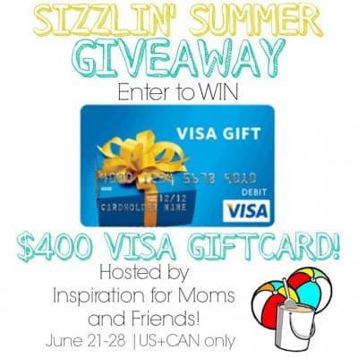 Sizzlin' Summer $400 Visa Giveaway