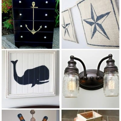 6 Nautical DIY and Decor at Feature Friday