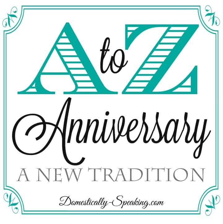 A to Z Anniversary
