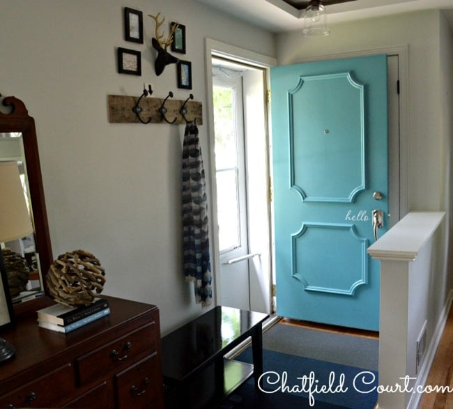 Beautiful Blue Front Door from Chatfield Court
