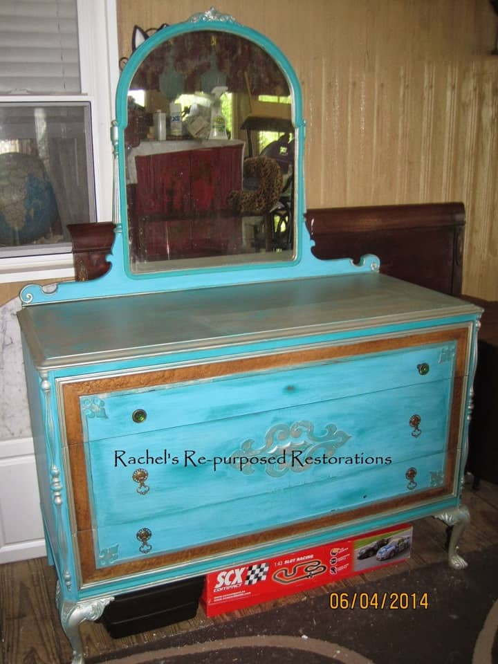 Beautiful Blue Painted Dresser from Re-Purposed Restorations