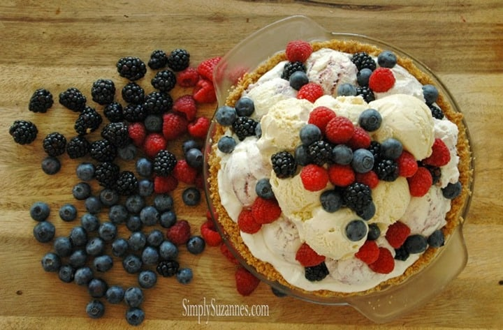 Berries and Ice Cream Pie from Simply Suzannes