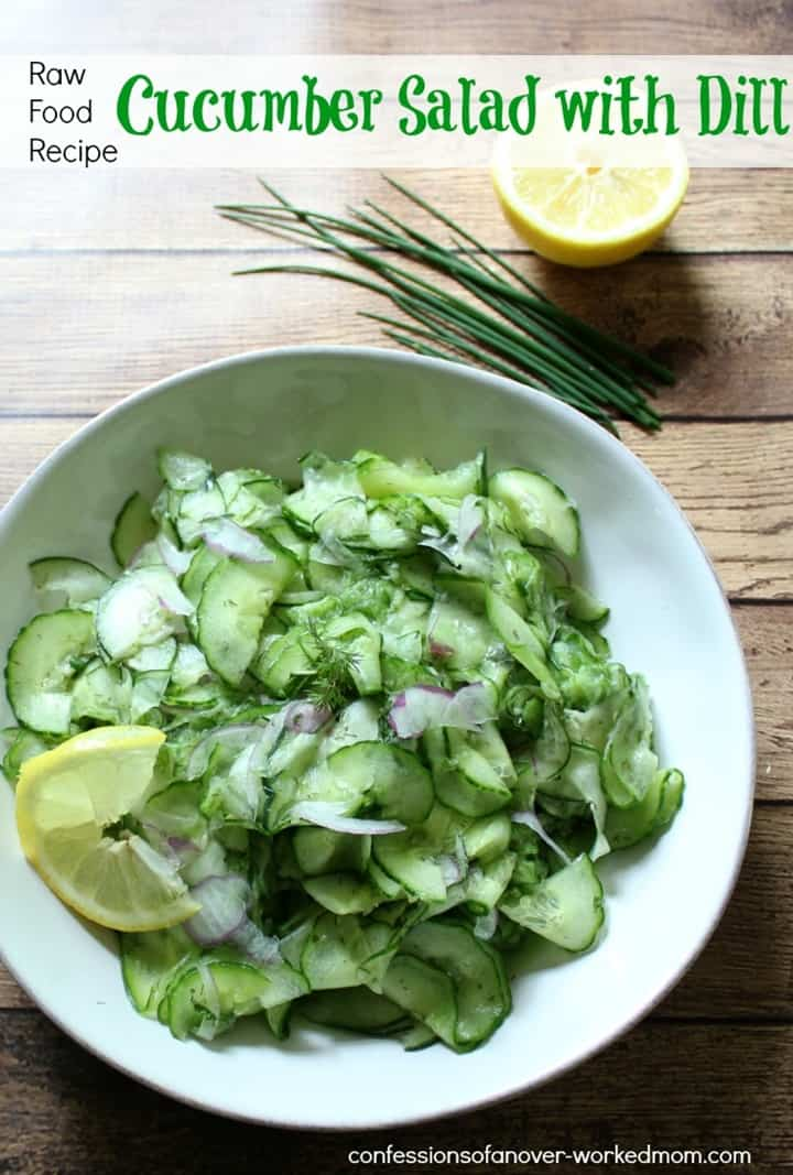 Cucumber Salad with Dill from Confessions of an Over-Worked Mom