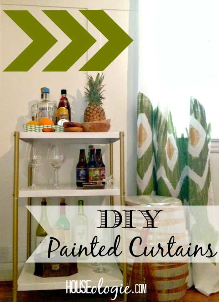 DIY Painted Curtains from HOUSEologie