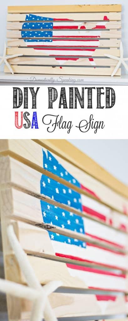 DIY Painted USA Flag Sign