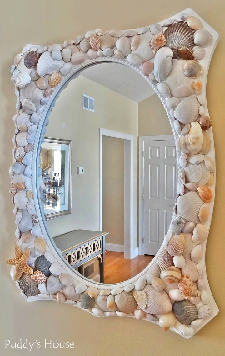 DIY Seashell Mirror from Puddys House